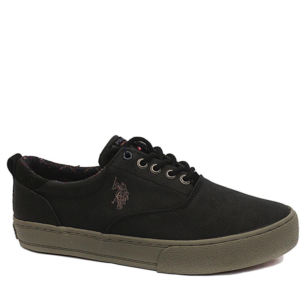 Sz 43 USSPA Black Will Club Leather Sneakers