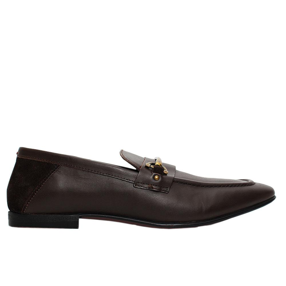 Coffee Milton Leather Loafers