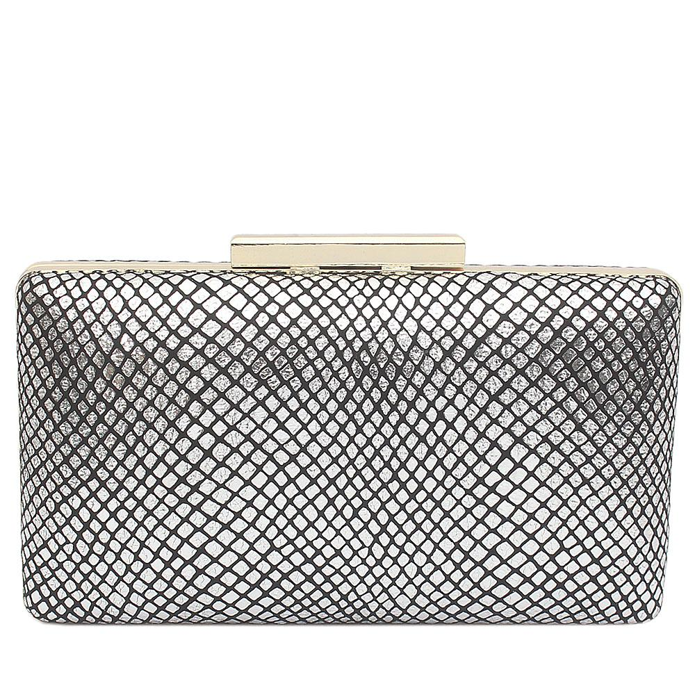 Silver Alice Clutch Purse