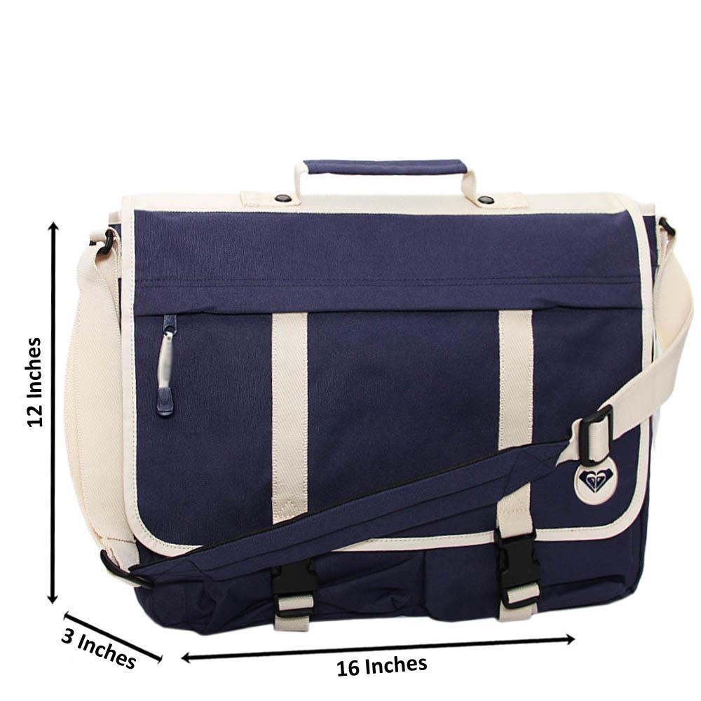 Navy Tyler Frankie Fabric Messenger Bag