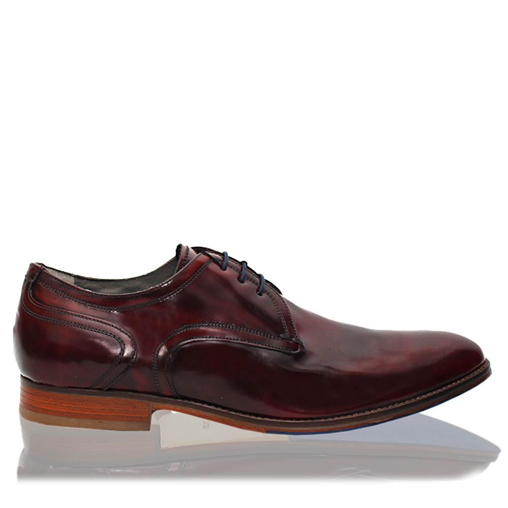 Tan Brown Leather Men Derby Shoes