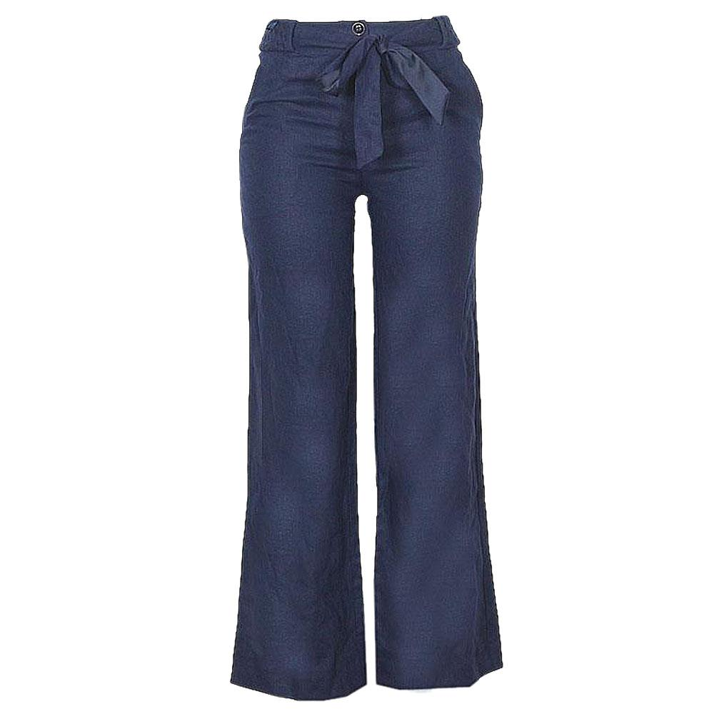 Peruna Navy Linen Ladies Trouser-Uk 10