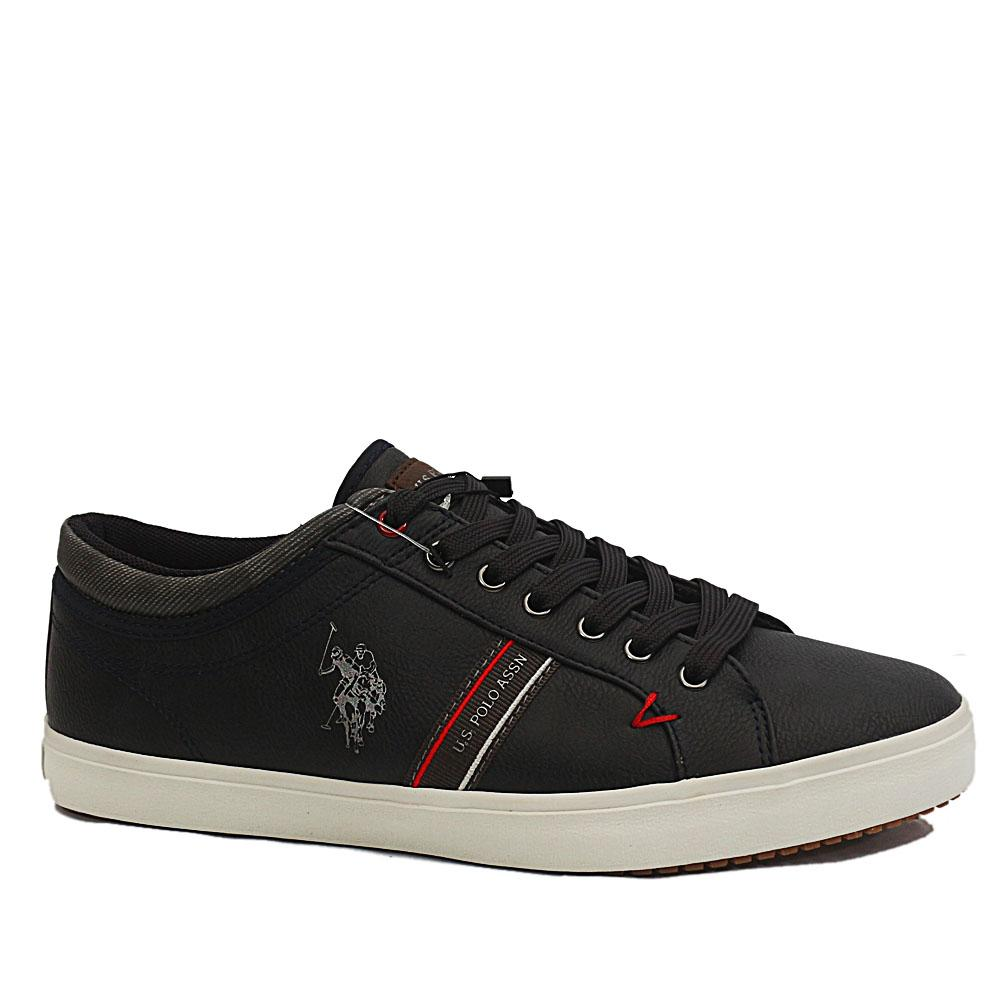 USSPA Navy Wey Leather Sneakers