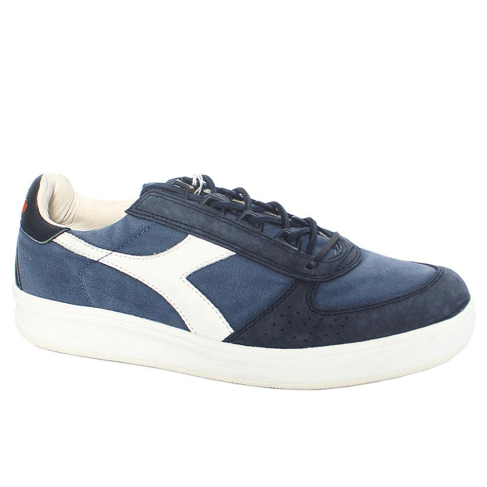 Blue Elite Mix Fabric Suede Leather Breathable Sneakers