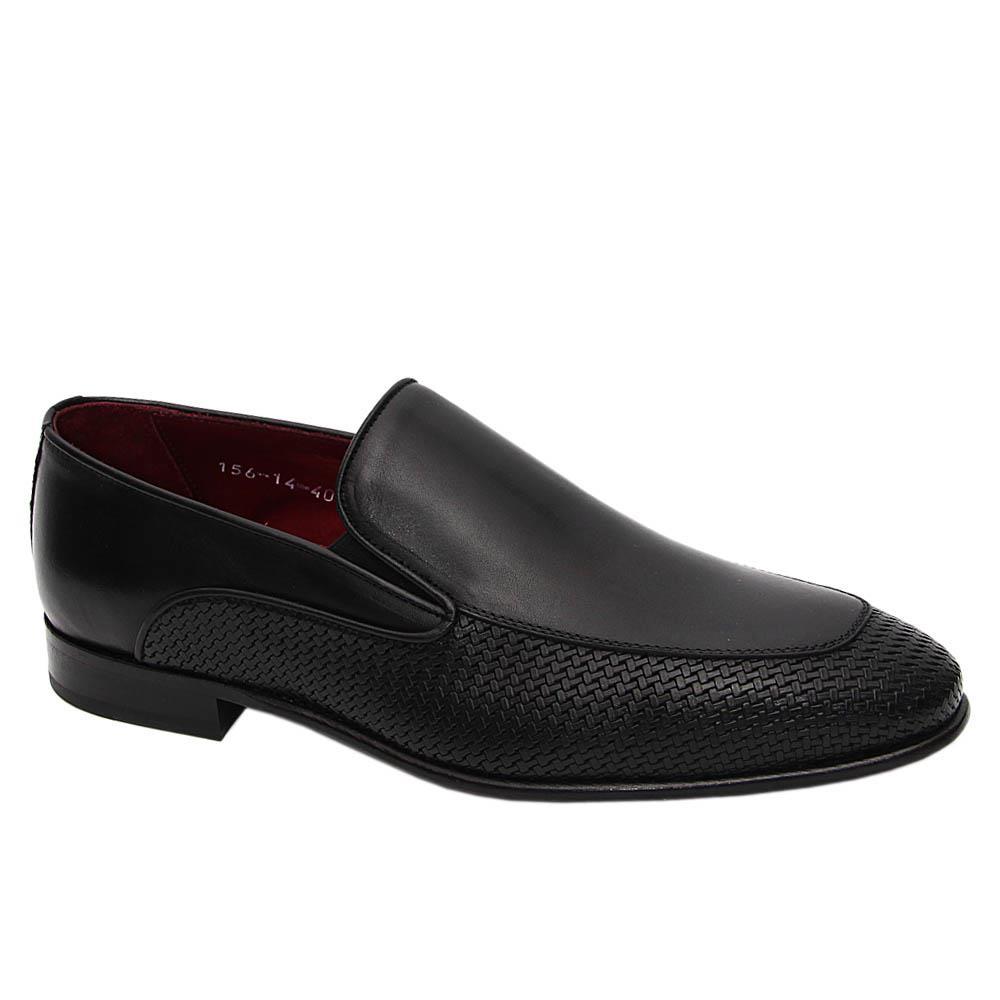 Black Camilo Italian Leather Loafers