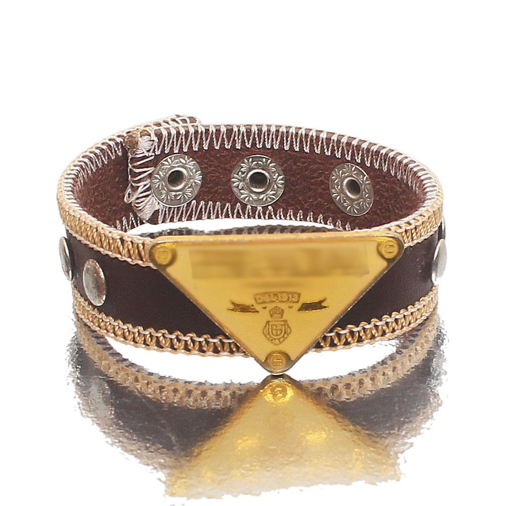 Brown Leather Adjustable Bracelet