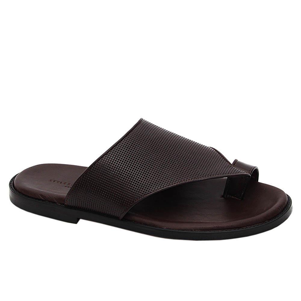 Coffee Jordan Smith Italian Leather Slippers