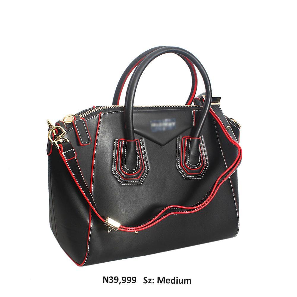 Black Caimlla Leather Tote Handbag
