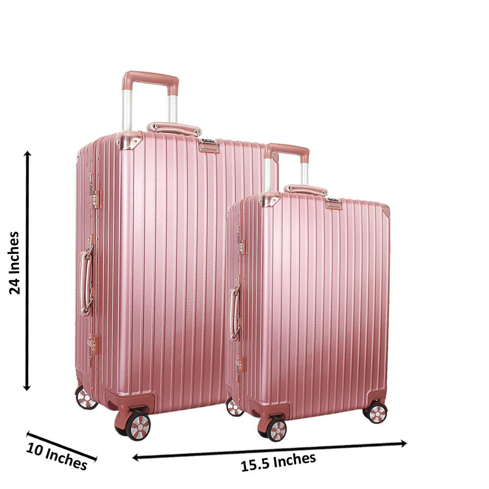 Pink 24 inch Wt 20 inch 2 in 1 Hardshell Luggage Set Wt TSA Lock