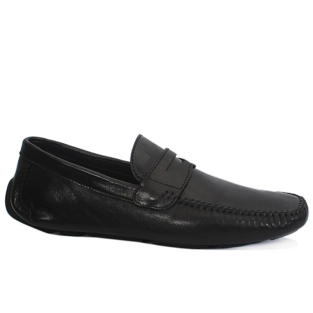 Gen Black Spiro Leather Drivers Shoe