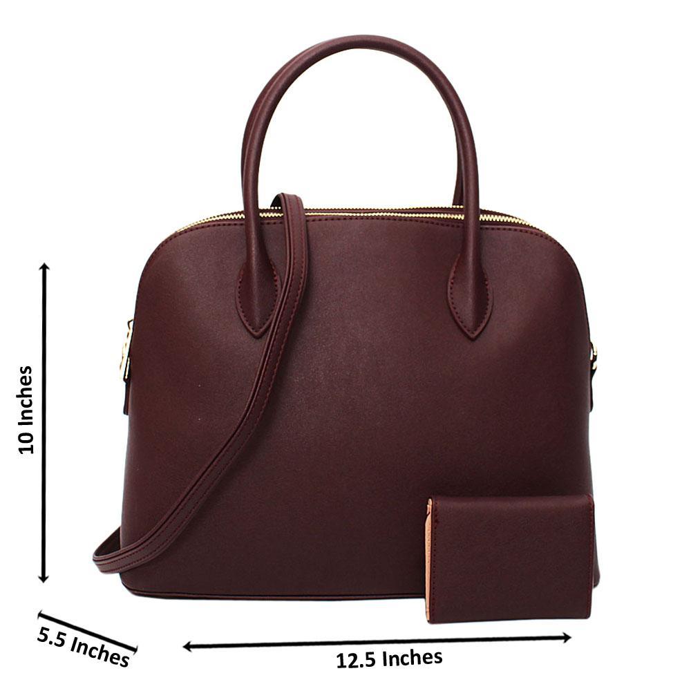 Burgundy Nancy Nell Leather Medium Tote Handbag