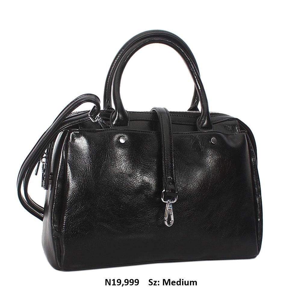 Black Bertha Leather Tote Handbag