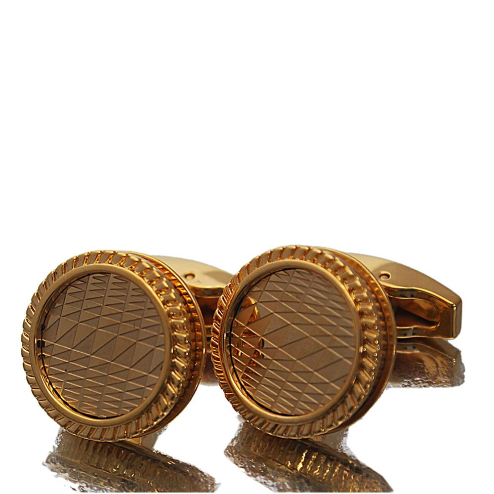 Iron Gold Stainless Steel Cufflinks