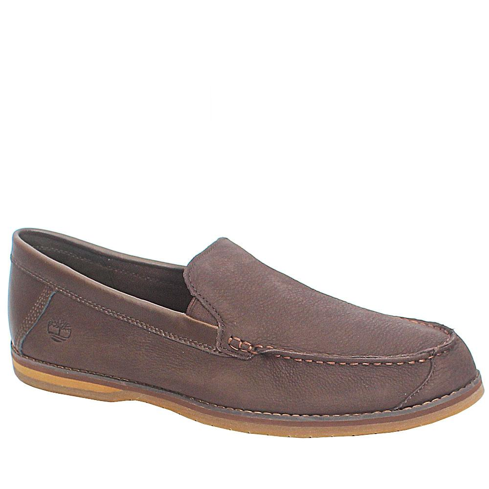 Timberland Ortholite Coffee Brown Premium Leather Loafers Sz 45.5