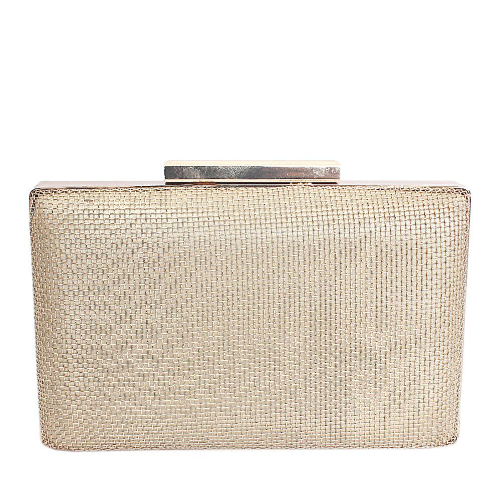 Gold Mesh Hard Clutch Purse