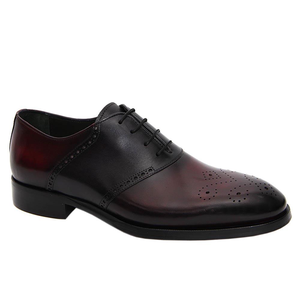 Wine Black Ferdinand Italian Leather Oxford Shoe
