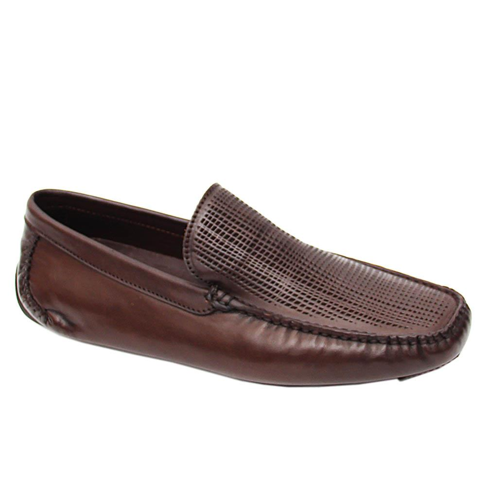 Coffee Silverio Italian Leather Drivers Shoes