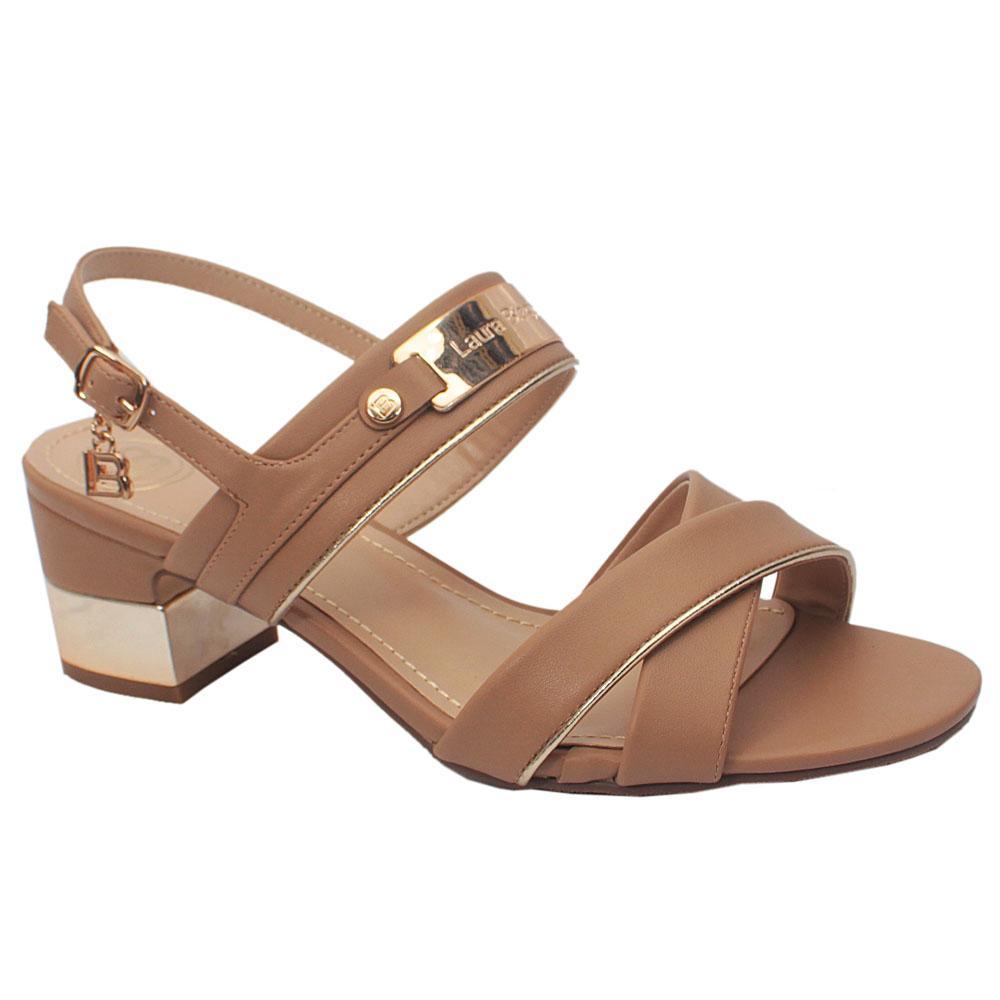 Sz 41 Biagiotti Biege Leather Low Heels