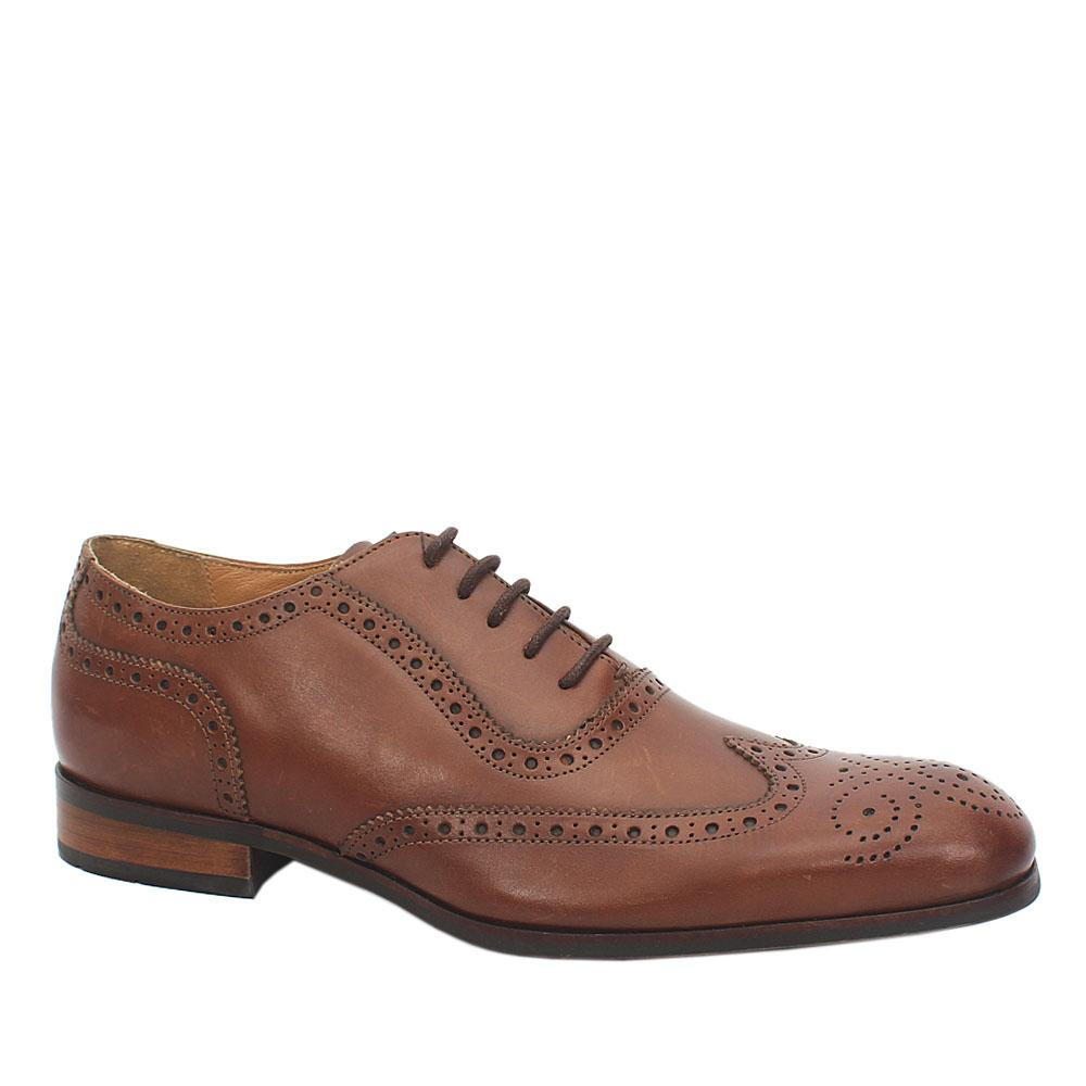 M & S Limited Coffee Brown Leather Laceup Men Shoe Sz 40.5