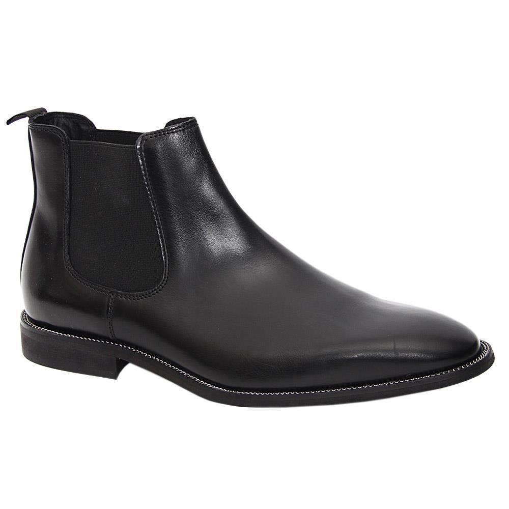 K. Geiger Black Fernando Leather Chelsea Boot