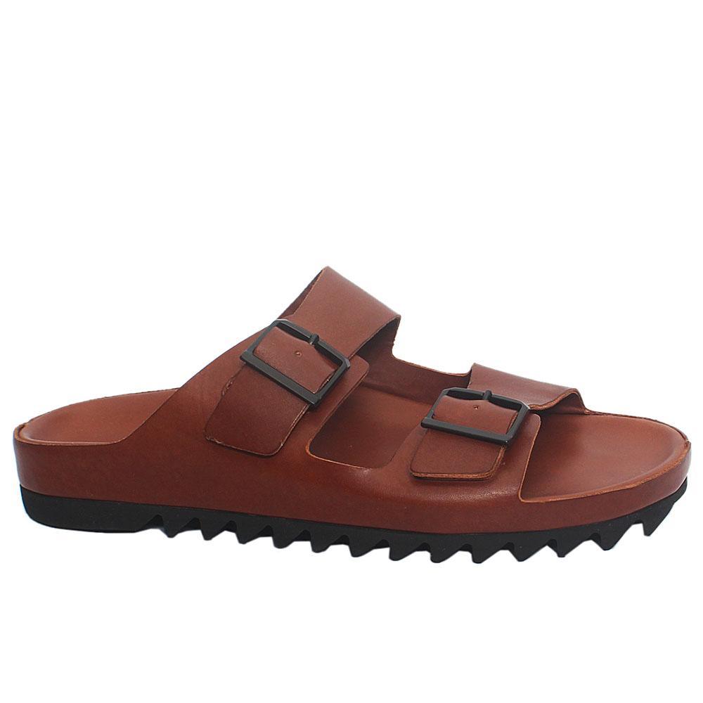 Brown ADL Redmond Leather Men Slippers