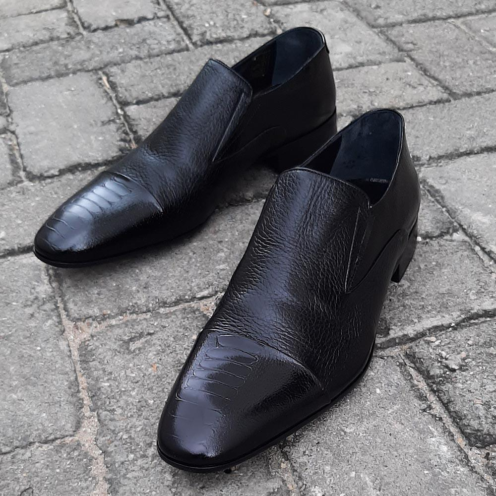 Black-Cecco-Italian-Leather-Men-Shoe