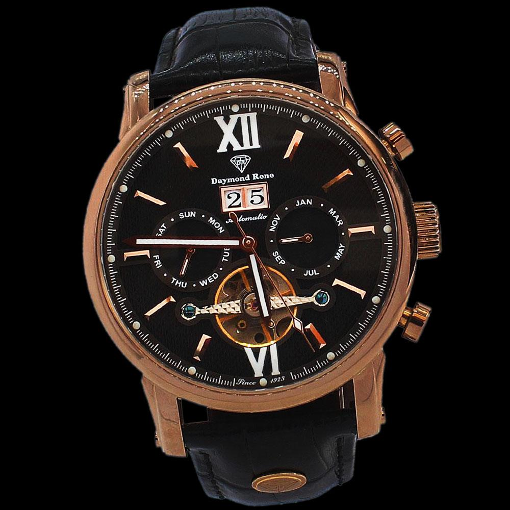 DR 3ATM Bronze Coffee Leather Automatic Watch