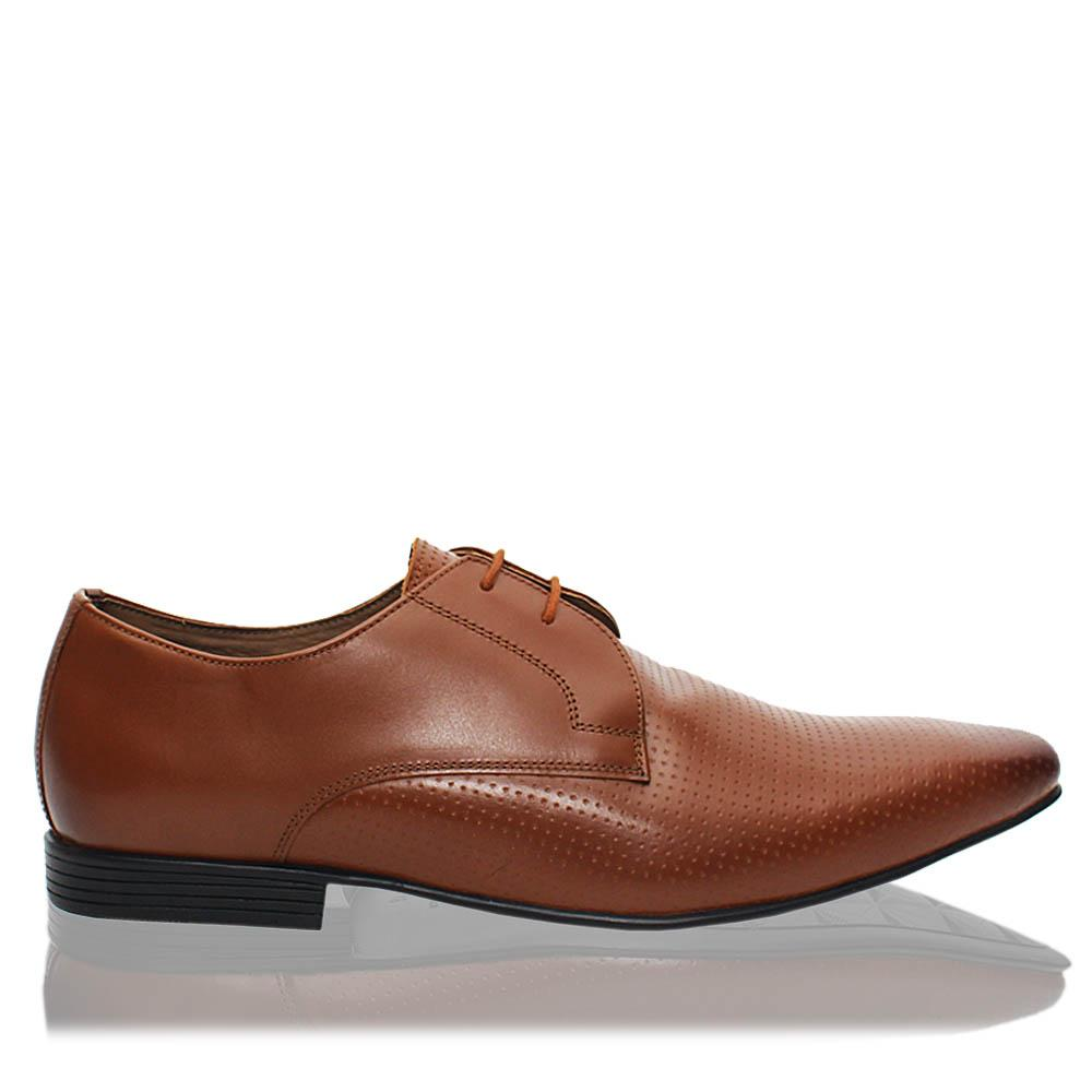 Brown Kilwinning Leather Men Derby Shoes