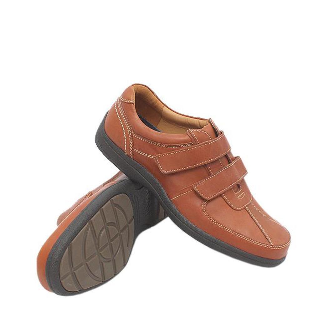 M & S Airflex Brown Leather Men Shoe Sz 44.5