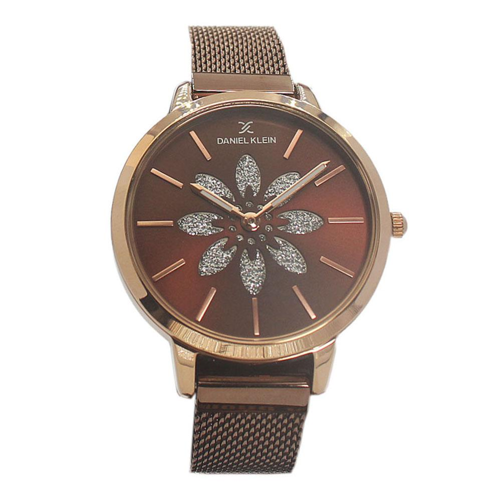 Rose Silver Stainless Mesh Ladies Watch