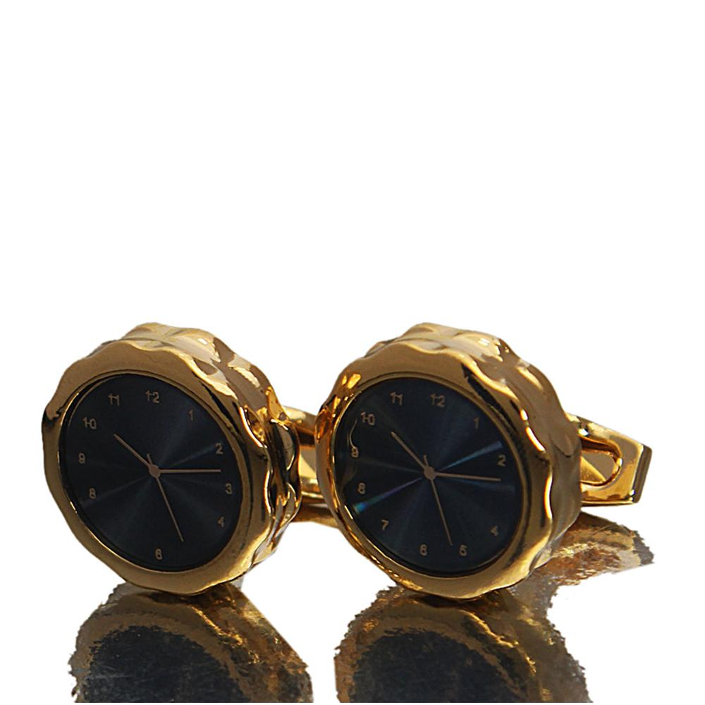 Gold Classic Time piece Stainless Steel Cufflinks