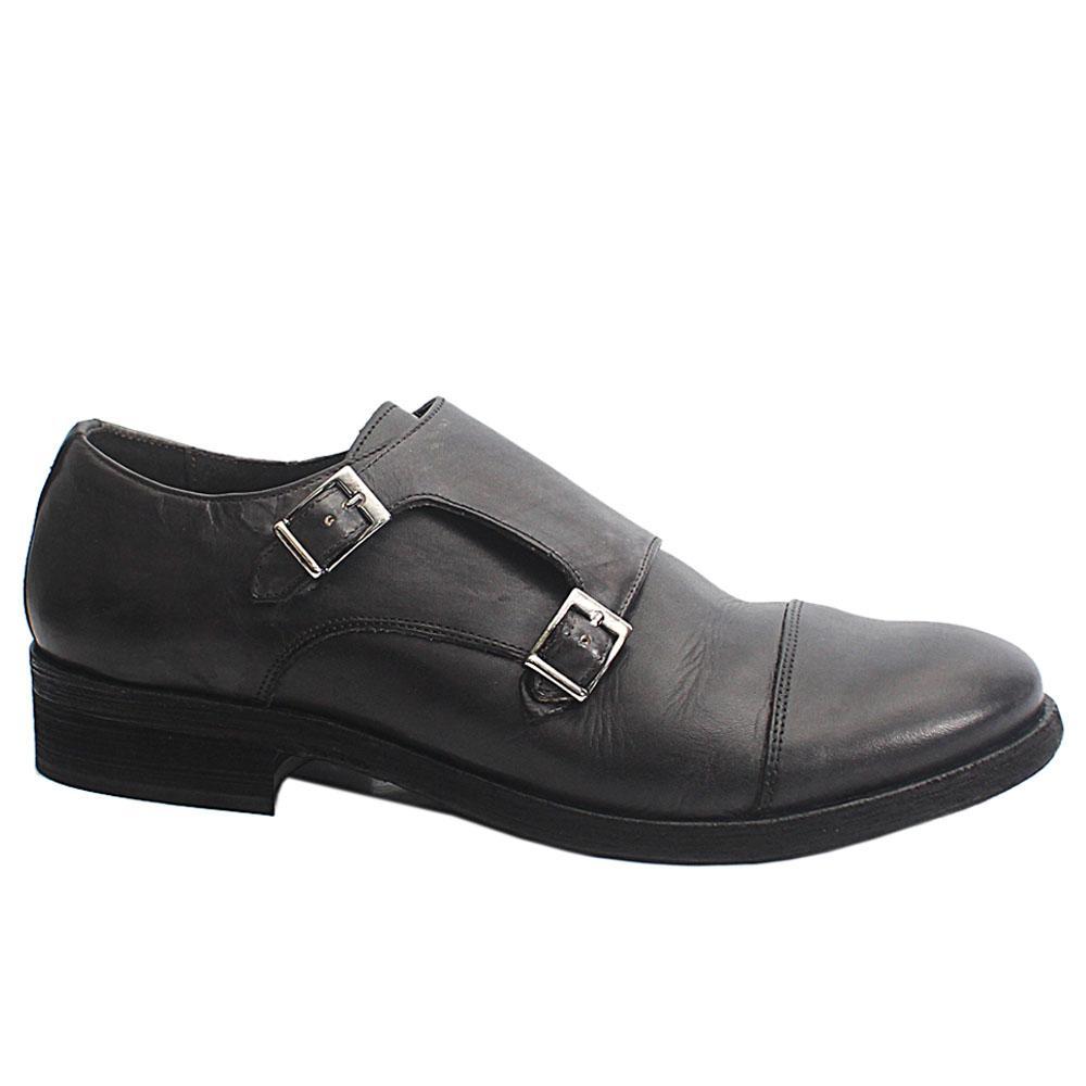 Gray-Alan-Leather-Men-Monk-Strap-Shoes