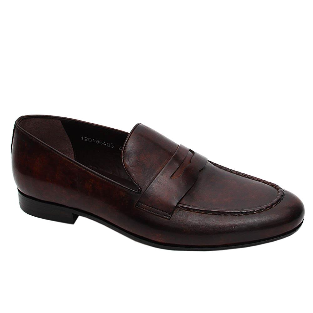 Coffee Lennon Italian Leather Loafers