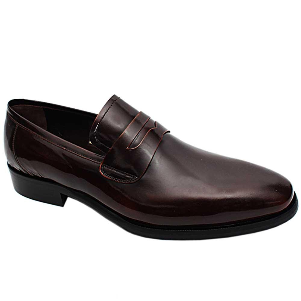 Coffee Lauren Mitch Patent Italian Leather Men Loafers