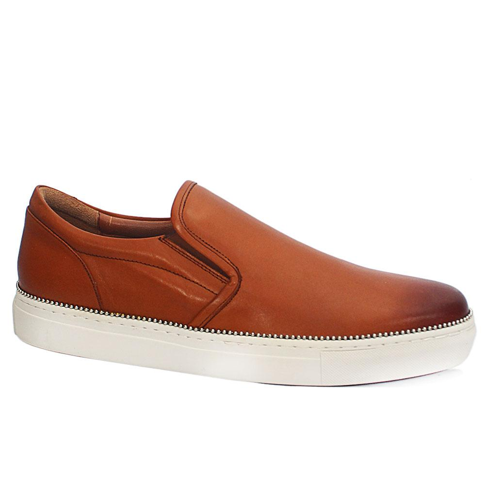 Malone Brown Leather Sneakers