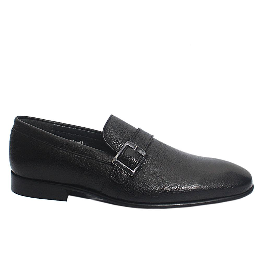 Black Eric Leather Men Loafers