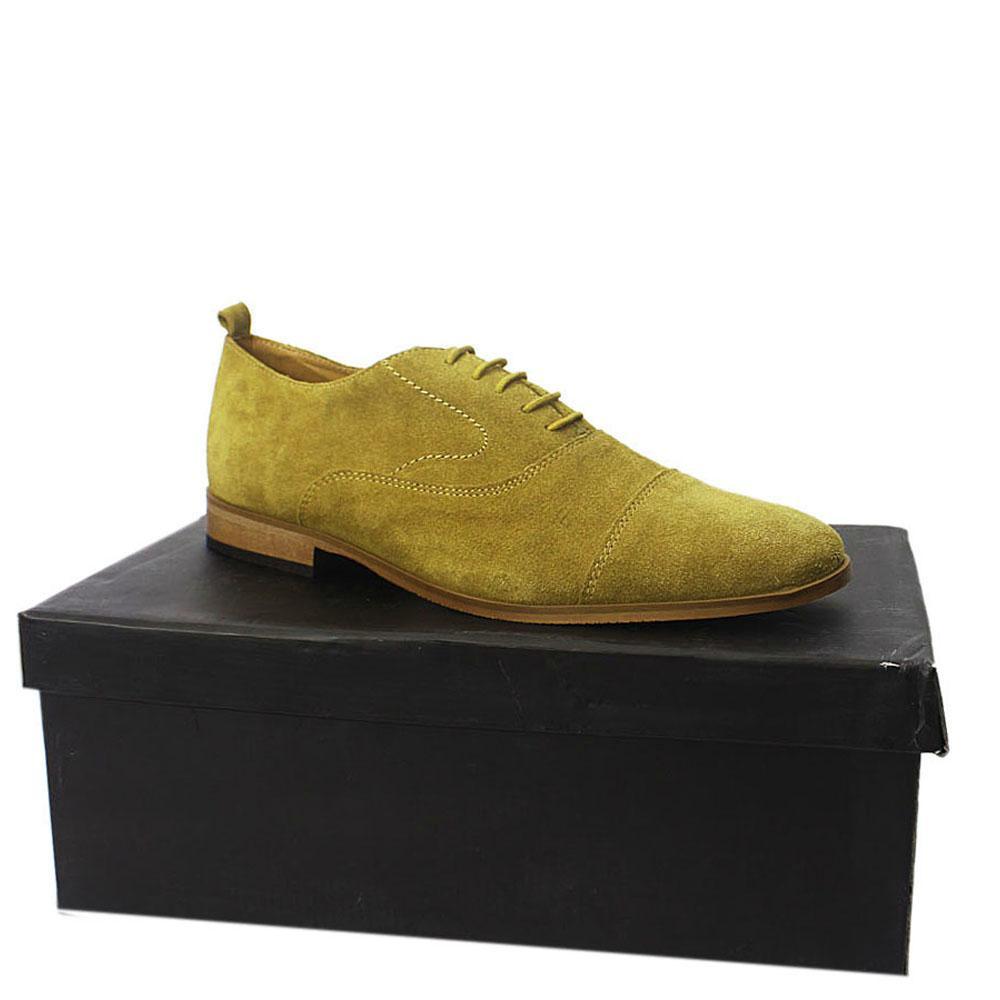 Sz 42 Kurt Geiger Tan Suede Men Closed Lacing Shoes