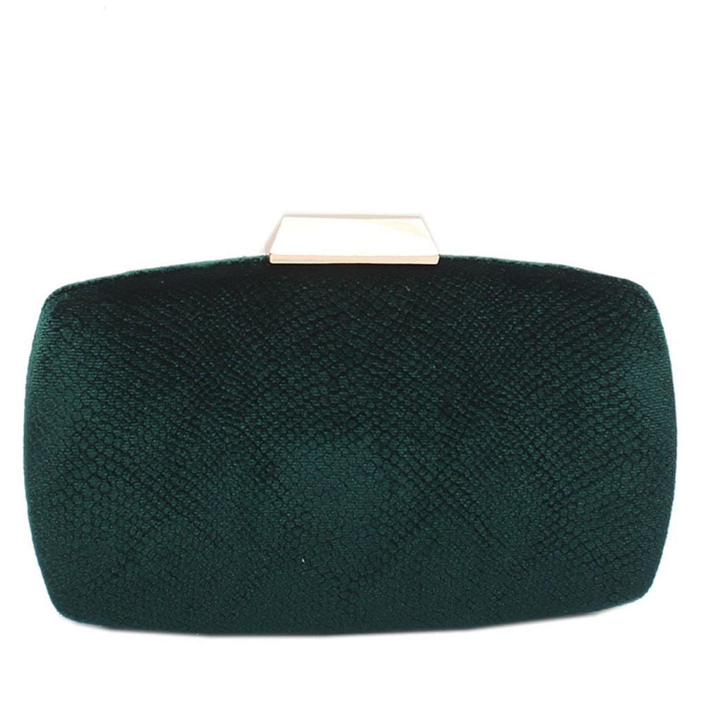 Green Corduroy Premium Hard Clutch