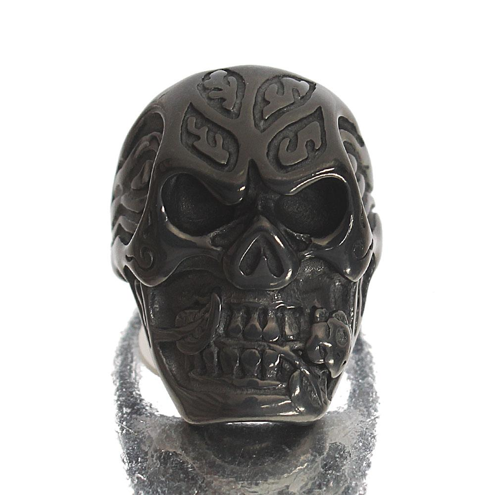 Black Kong Stainless Steel Exclusive Ring Sz