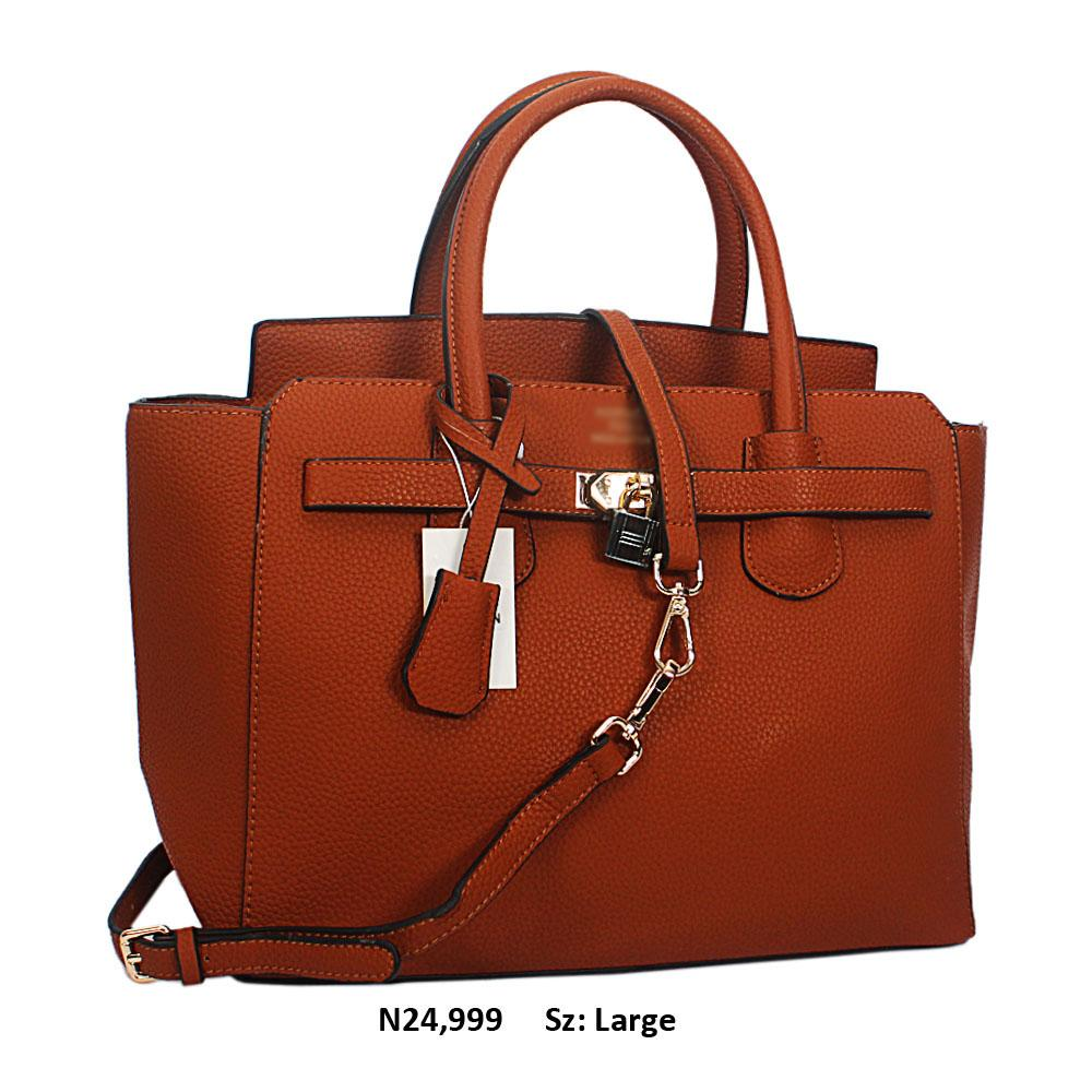 Brown Yolanda Leather Tote Handbag