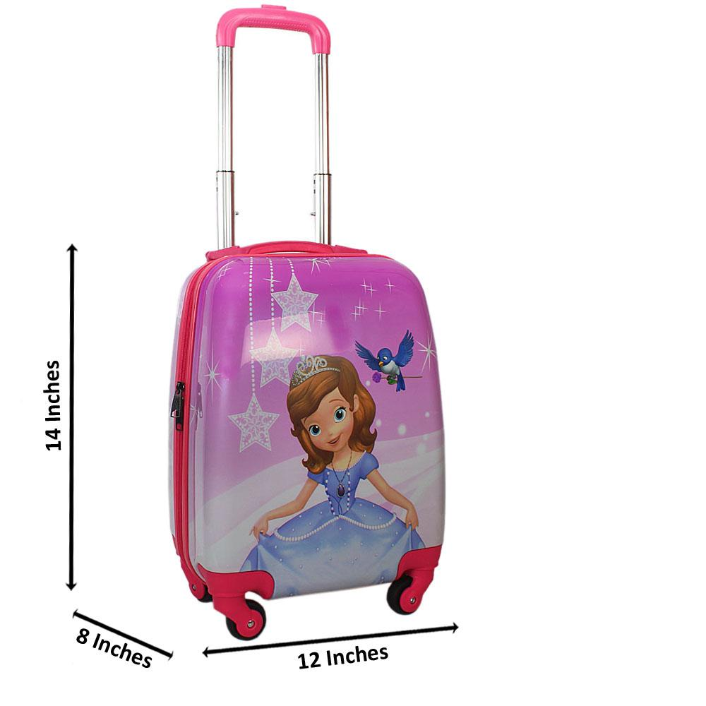 Purple Cinderella Graphics 14 Inch ABS Shell Kiddies Carry On Luggage