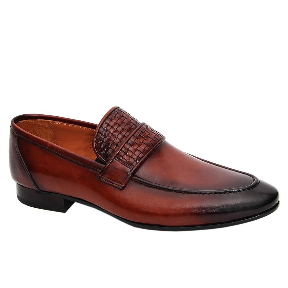 Tan Brown Mercellino Italian Leather Loafers