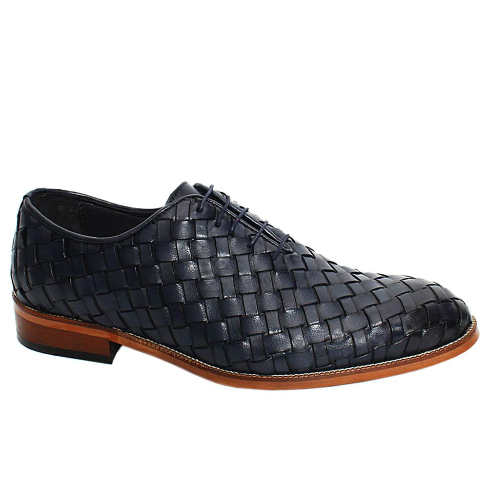 Navy-Apollo-Hand-Woven-Leather-Oxford-Shoes