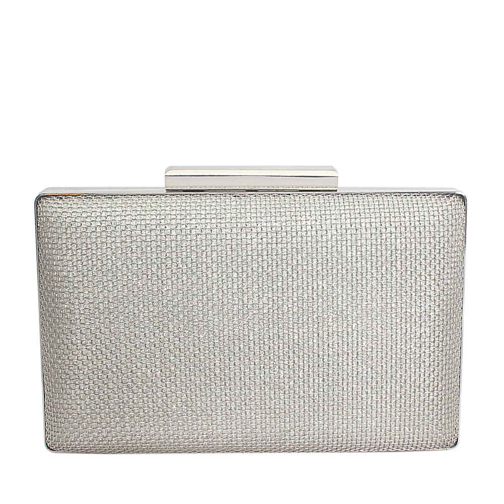 Silver Mesh Stainless Steel Hard Clutch Purse