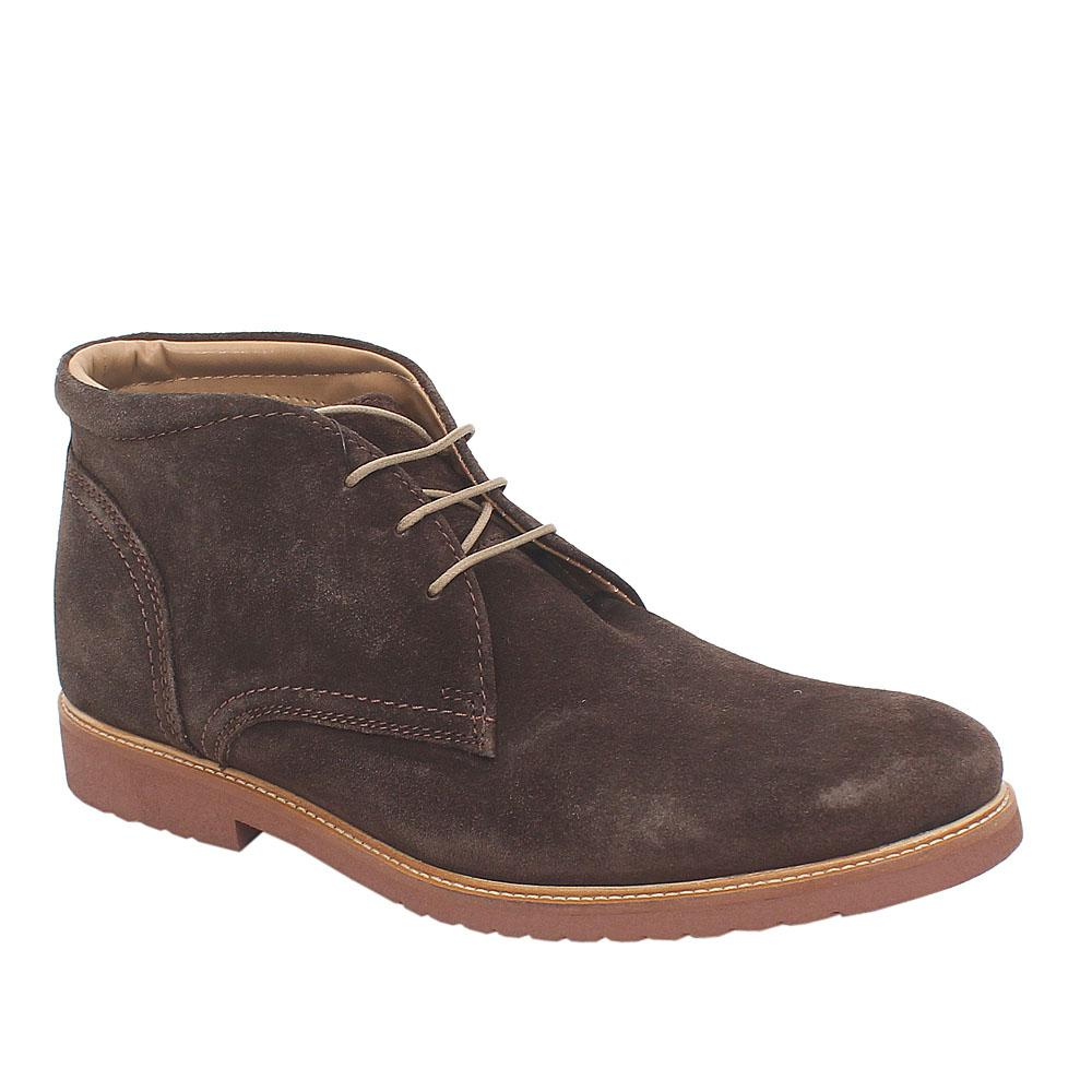 M&S Collection Coffee Suede Leather Lace-up Men Ankle Boot Sz 43