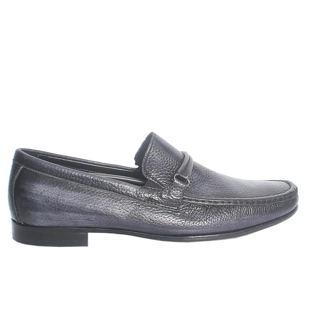 Black Salvestro Italian Leather Loafers