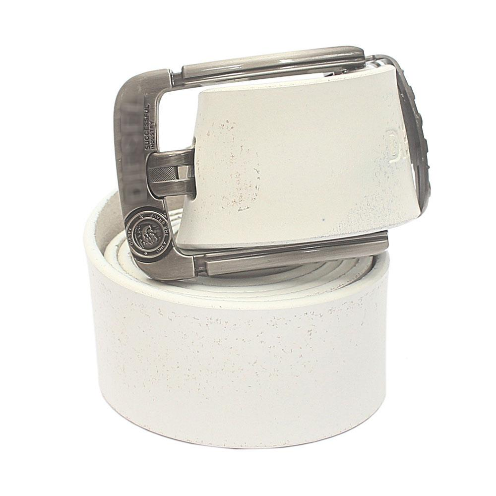 White Brave Premium Leather Belt L 50 Inches