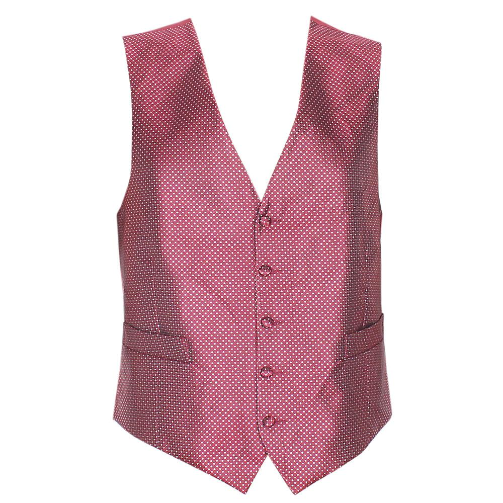 Wine Cotton Men Waist Coat Sz L