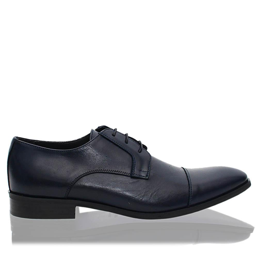 Navy Marcel Italia Leather Men Derby Shoes