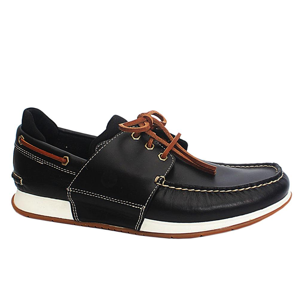 Black H Bay Leather Men Shoes